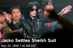 Jacko Settles Sheikh Suit