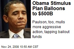 Obama Stimulus Plan Balloons to $500B