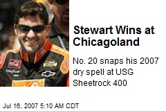 Stewart Wins at Chicagoland