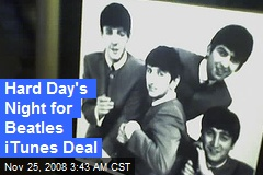 Hard Day's Night for Beatles iTunes Deal
