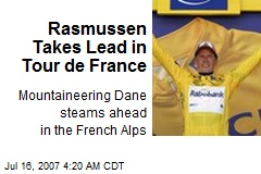 Rasmussen Takes Lead in Tour de France