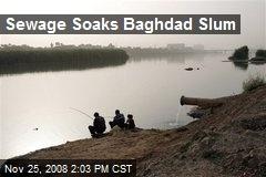 Sewage Soaks Baghdad Slum