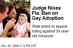 Judge Nixes Fla. Ban on Gay Adoption