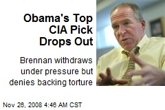 Obama's Top CIA Pick Drops Out