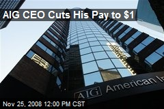 AIG CEO Cuts His Pay to $1