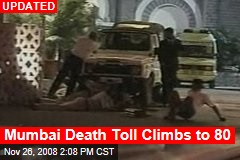 Mumbai Death Toll Climbs to 80