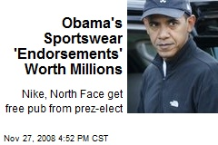 Obama's Sportswear 'Endorsements' Worth Millions