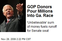 GOP Donors Pour Millions Into Ga. Race