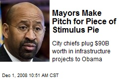 Mayors Make Pitch for Piece of Stimulus Pie