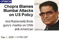 Chopra Blames Mumbai Attacks on US Policy