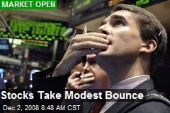 Stocks Take Modest Bounce