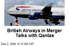 British Airways in Merger Talks with Qantas