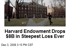 Harvard Endowment Drops $8B in Steepest Loss Ever
