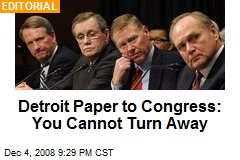 Detroit Paper to Congress: You Cannot Turn Away