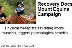 Recovery Docs Mount Equine Campaign