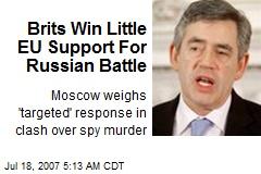 Brits Win Little EU Support For Russian Battle