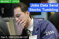 Jobs Data Send Stocks Tumbling