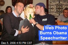 Web Photo Burns Obama Speechwriter