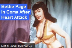 Bettie Page in Coma After Heart Attack