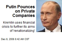 Putin Pounces on Private Companies