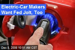 Electric-Car Makers Want Fed Jolt, Too