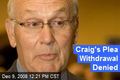 Craig's Plea Withdrawal Denied