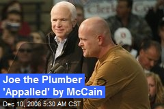 Joe the Plumber 'Appalled' by McCain