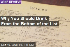Why You Should Drink From the Bottom of the List