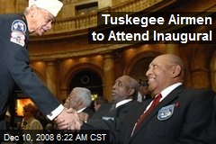 Tuskegee Airmen to Attend Inaugural
