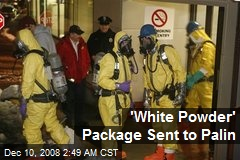 'White Powder' Package Sent to Palin