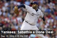 Yankees: Sabathia a Done Deal