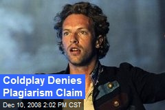 Coldplay Denies Plagiarism Claim