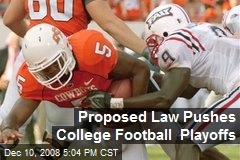 Proposed Law Pushes College Football Playoffs