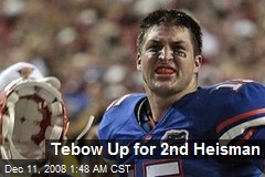 Tebow Up for 2nd Heisman