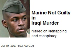 Marine Not Guilty in Iraqi Murder
