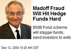 Madoff Fraud Will Hit Hedge Funds Hard