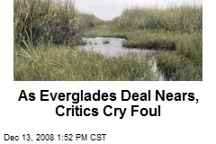As Everglades Deal Nears, Critics Cry Foul