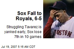 Sox Fall to Royals, 6-5