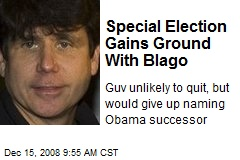 Special Election Gains Ground With Blago