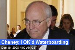 Cheney: I OK'd Waterboarding
