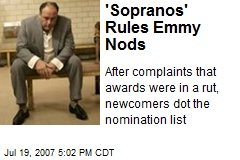 'Sopranos' Rules Emmy Nods