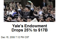 Yale's Endowment Drops 25% to $17B