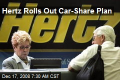 Hertz Rolls Out Car-Share Plan