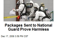 Packages Sent to National Guard Prove Harmless