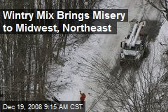 Wintry Mix Brings Misery to Midwest, Northeast
