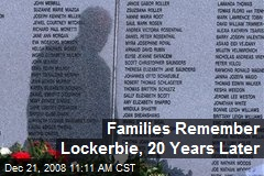 Families Remember Lockerbie, 20 Years Later