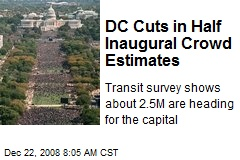 DC Cuts in Half Inaugural Crowd Estimates