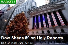 Dow Sheds 59 on Ugly Reports