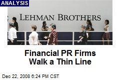 Financial PR Firms Walk a Thin Line