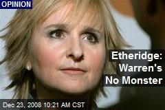 Etheridge: Warren's No Monster